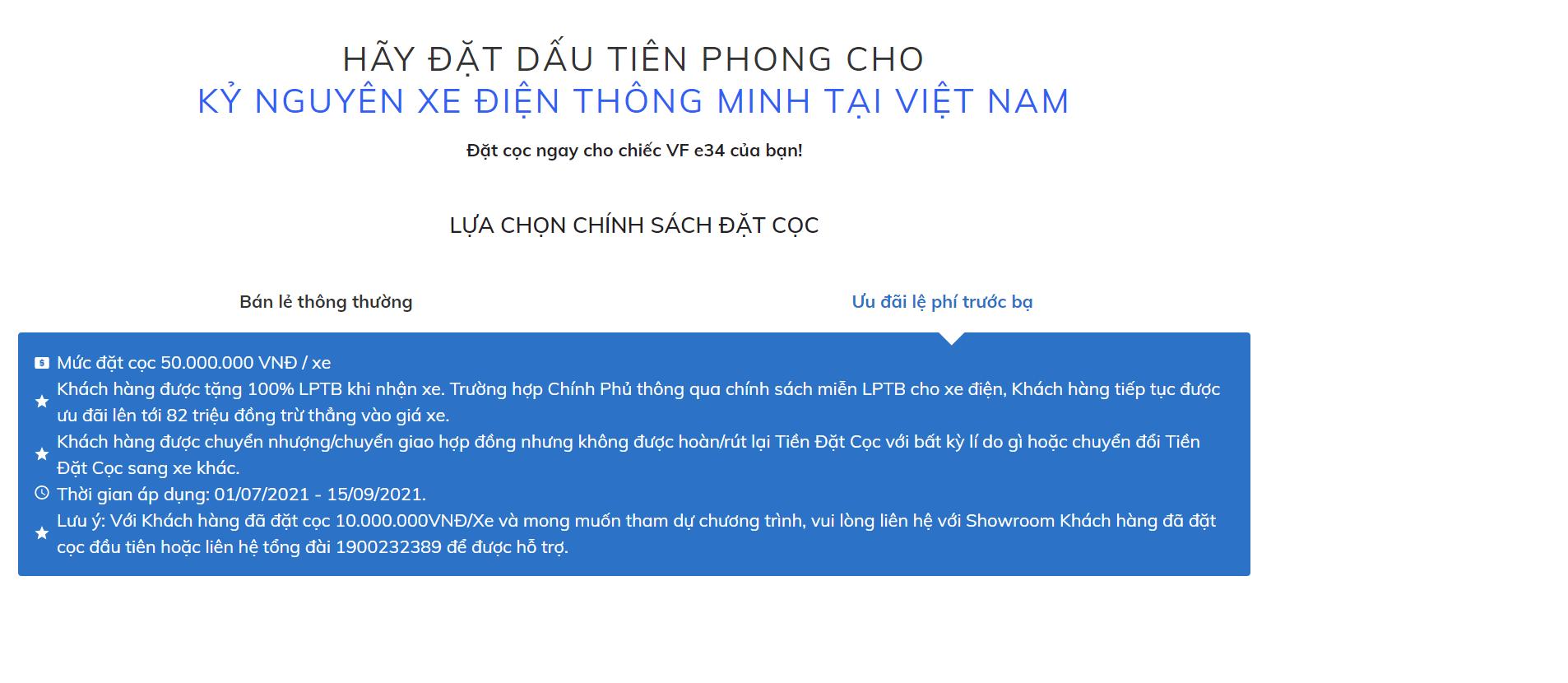 Uu Dai Le Phi Truoc Ba O To Dien Vfe34